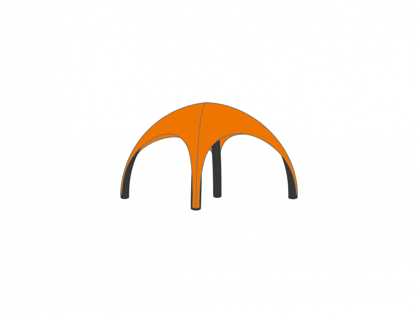Partyspace OpblaasbareTent Set AIRSET33 ORANGE