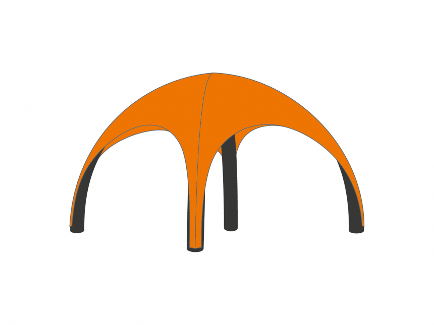 Partyspace OpblaasbareTent Set AIRSET66 ORANGE