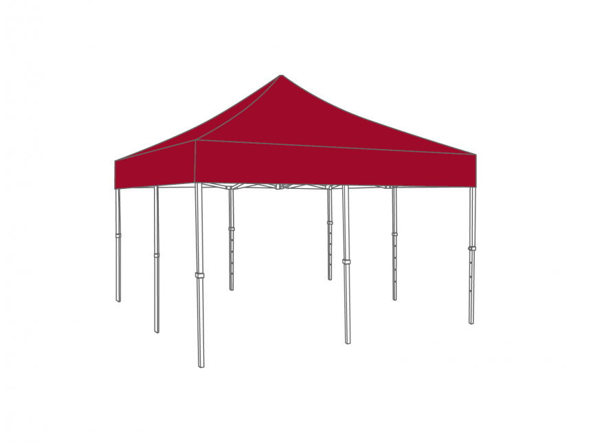 Partyspace Vouwtent 5x5 Set55 RED