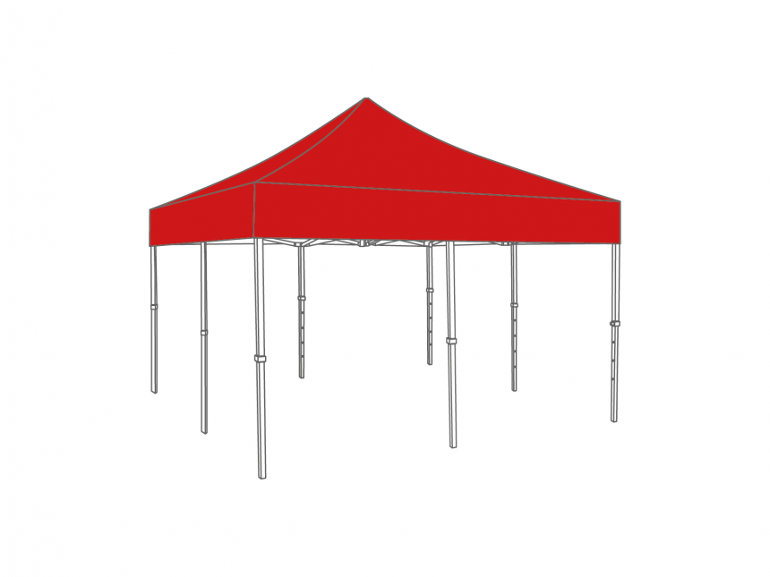 Partyspace Vouwtent 5x5 Set55 TOMATORED