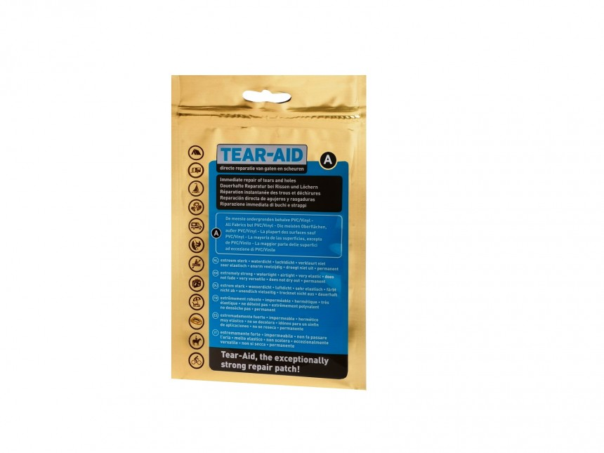 Tear Aid Type A Gold Front Print