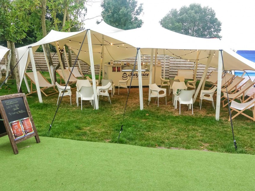 stretchtent proflexx single coated 10x12m creme 1