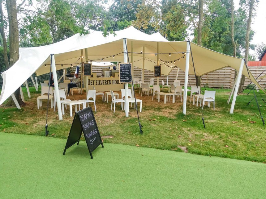 stretchtent single coated 10x12m creme 3