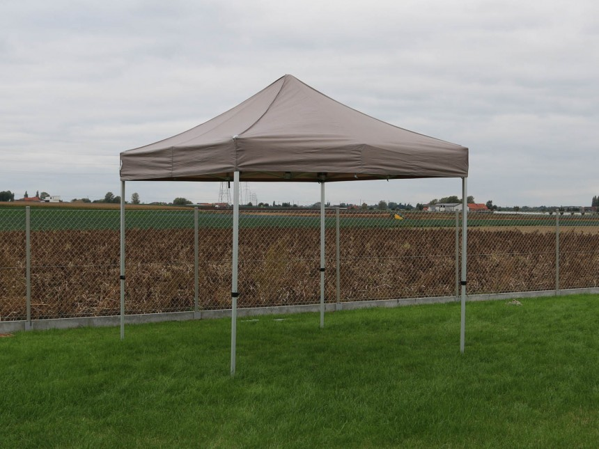 folding tent 2,5x2,5m aluminium frame polyester roof sand 2
