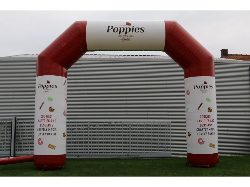 Printed finish arch Poppies (7x5,7m)