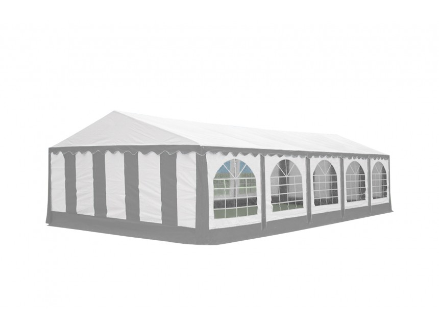 Party tent Premium, 10m length, white gray