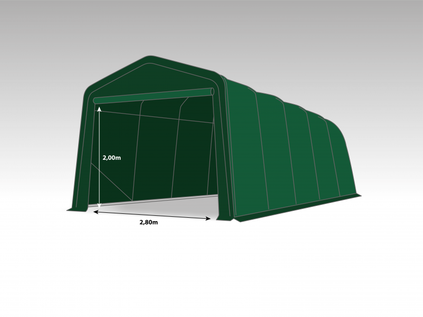 Wikinger Carport 3,3x6,0m   Dark green