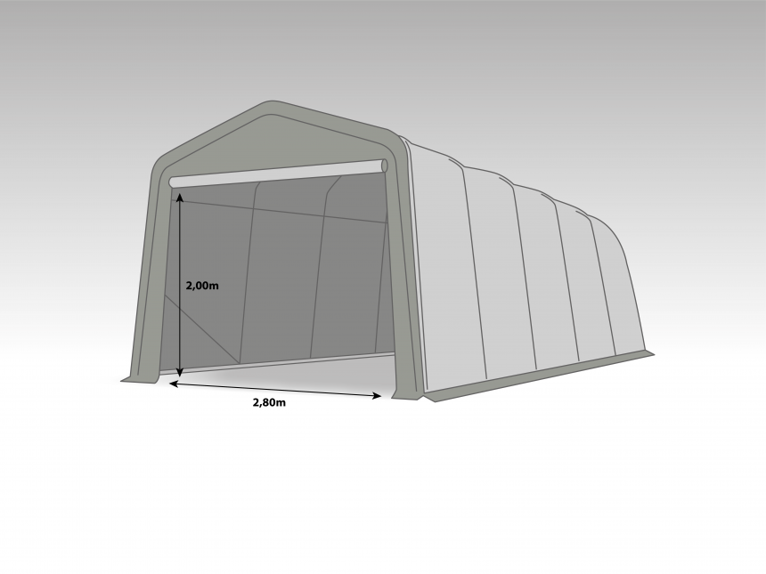 Wikinger Carport 3,3x6,0m   Light gray