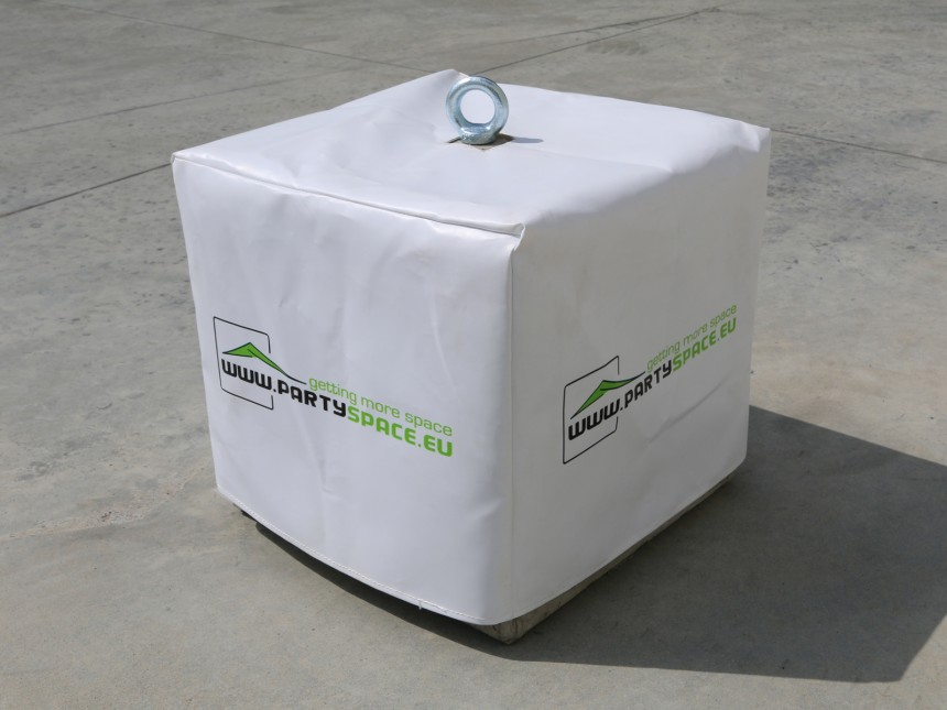bedrukte hoes pvc voor beton gewicht 145kg partyspace. Black Bedroom Furniture Sets. Home Design Ideas