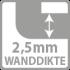 2,5 mm wanddikte